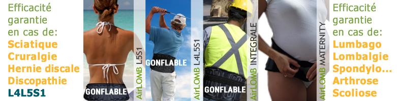 ceinture lombaires gonflable pour étirer verticalement votre dos