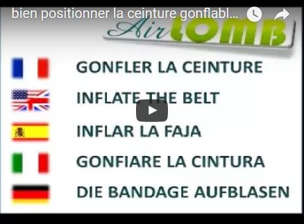 Vidéo d'explications pour le gonflage de la ceinture