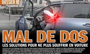 prévenir le mal de dos en voiture